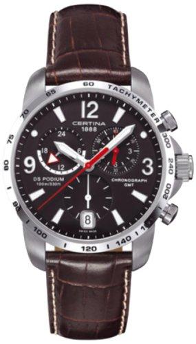Certina Herren-Armbanduhr XL Chronograph Quarz Leder C001.639.16.057.00