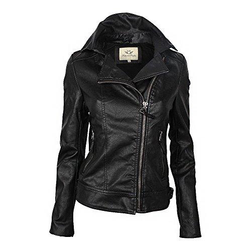 Fritzi aus Preußen Damen Jacke Virginia, Schwarz (Black Wash 007), 40 (Herstellergröße: L)