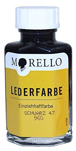 Morello Einziehhaftfarbe Lederfarbe 40ml Schwarz