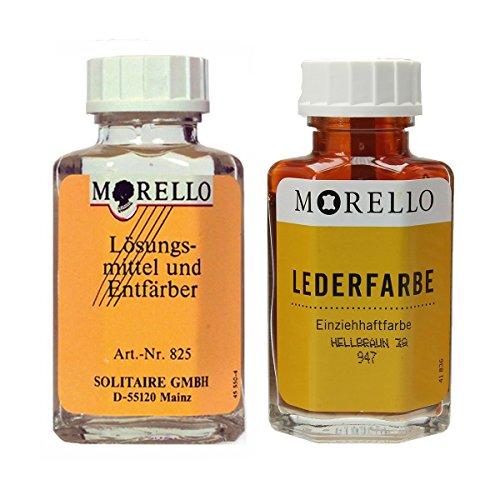 Morello Lederfarbe hellbraun mit Morello Lederreiniger SET