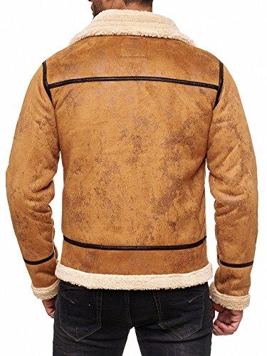 Red Bridge Herren Winterjacke Kunstleder gefütterter Vintage Jacke - 2