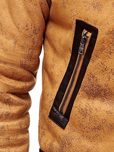 Red Bridge Herren Winterjacke Kunstleder gefütterter Vintage Jacke - 7