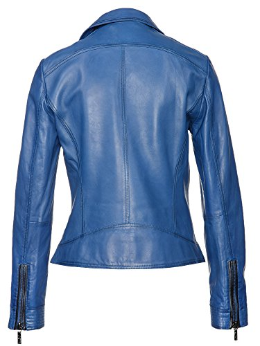 BOSS Damen LederJacke Jamela // Blau (Medium Blue 428), 40 - 2