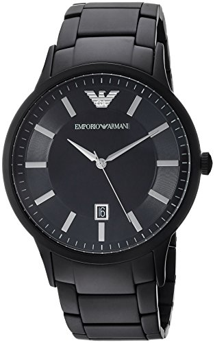 Emporio Armani Herren Analog Quarz Uhr mit Edelstahl Armband AR11079