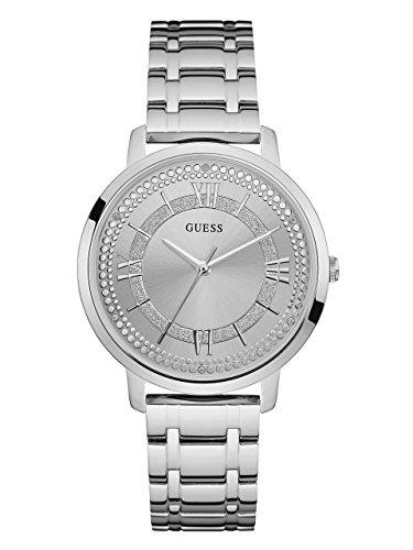 Guess Damen Analog Quarz Uhr mit Edelstahl Armband W0933L1
