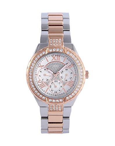 Guess Damen-Armbanduhr XS Analog Quarz Edelstahl W0111L4