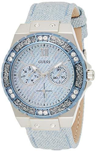 Guess Damen Analog Quarz Uhr mit Leder Armband W0775L1