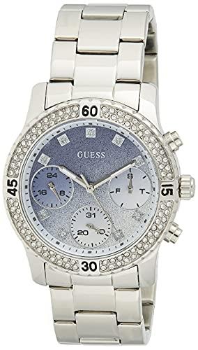 Guess Damen Analog Quarz Uhr mit Edelstahl Armband W0774L6