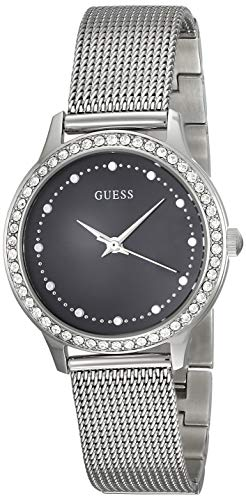 Guess Damen Analog Quarz Uhr mit Edelstahl Armband W0647L5