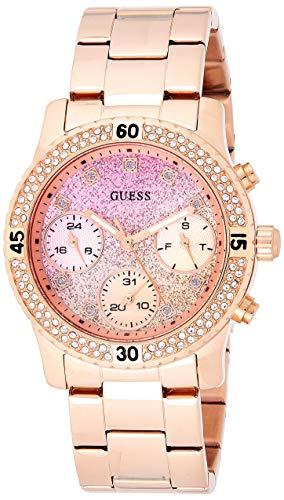 Guess Herren Analog Quarz Uhr mit Edelstahl Armband W0774L3