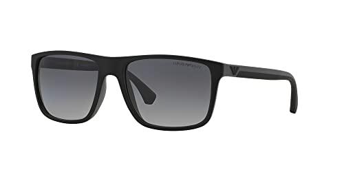 Emporio Armani Unisex Sonnenbrille 5229t3, Mehrfarbig (Black/Grey Rubber, Large (Herstellergröße: 56) - 2