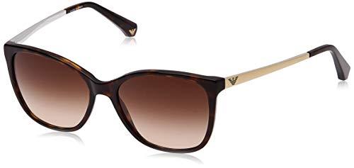 Emporio Armani Unisex Sonnenbrille 502613, Mehrfarbig (Dark Havana, Medium (Herstellergröße: 55)