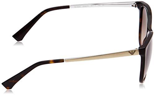 Emporio Armani Unisex Sonnenbrille 502613, Mehrfarbig (Dark Havana, Medium (Herstellergröße: 55) - 3