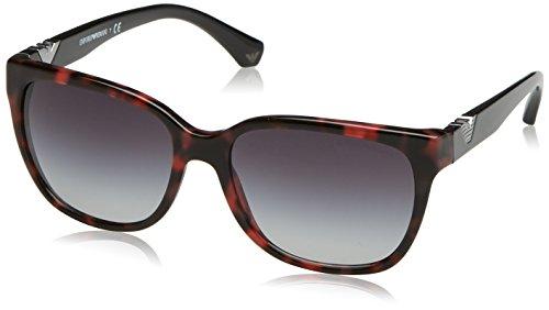 Emporio Armani Damen Sonnenbrille 0EA4038 52778G 57, Rot (Havanbordeaux/Grey)