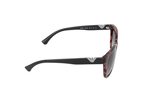 Emporio Armani Damen Sonnenbrille 0EA4038 52778G 57, Rot (Havanbordeaux/Grey) - 3