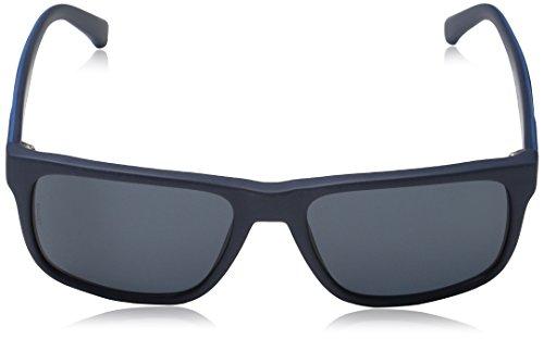Emporio Armani Unisex Sonnenbrille EA4071, Blau (Matte Blue 550487), Large (Herstellergröße: 56) - 2