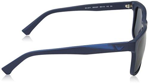 Emporio Armani Unisex Sonnenbrille EA4071, Blau (Matte Blue 550487), Large (Herstellergröße: 56) - 3