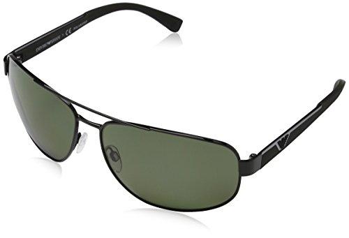 Emporio Armani Unisex Sonnenbrille EA2036, Schwarz (Black 30149A), X-Large (Herstellergröße: 64)