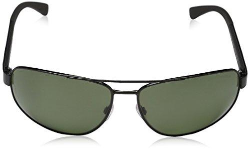 Emporio Armani Unisex Sonnenbrille EA2036, Schwarz (Black 30149A), X-Large (Herstellergröße: 64) - 2