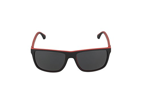 Emporio Armani Unisex Sonnenbrille EA4033, Mehrfarbig (Black/red Rubber 532487), Large (Herstellergröße: 56) - 2