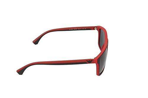 Emporio Armani Unisex Sonnenbrille EA4033, Mehrfarbig (Black/red Rubber 532487), Large (Herstellergröße: 56) - 3