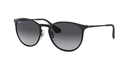 Ray Ban Unisex Sonnenbrille Erika Metal, (Gestell: schwarz, Gläser: grauverlauf 002/8G), Large (Herstellergröße: 54) - 4