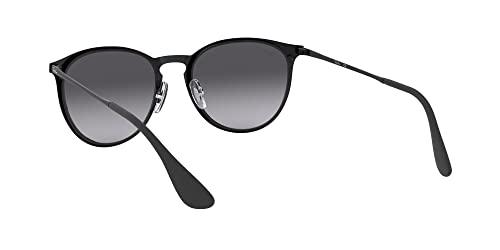 Ray Ban Unisex Sonnenbrille Erika Metal, (Gestell: schwarz, Gläser: grauverlauf 002/8G), Large (Herstellergröße: 54) - 6