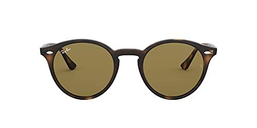 Ray-Ban Unisex Sonnenbrille Rb 2180, Mehrfarbig (Gestell: Havana,Gläser: braun Klassisch 710/73), Medium (Herstellergröße: 49)