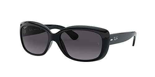 Ray-Ban RAYBAN Damen Sonnenbrille 4101, Shiny Black/Greygradientdarkgreypolar, 58 - 2