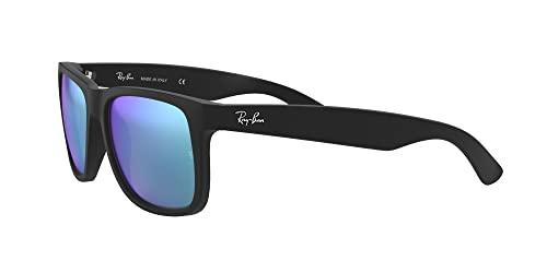 Ray-Ban 0RB4165 Justin Classic Sonnenbrille Large (Herstellergröße: 55), Schwarz (Gestell: Schwarz, Gläser: Blau Verspiegelt 622/55) - 3