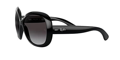 Ray Ban Unisex Sonnenbrille Jackie Ohh II, Gr. X-Large (Herstellergröße: 60), Schwarz (Gestell: Schwarz, Gläser: Grau Verlauf 601/8G) - 3