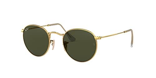 Ray-Ban Unisex Sonnenbrille Rb 3447, (Gestell: Gold, Gläser: Grün Klassisch 001), Medium (Herstellergröße: 47) - 5