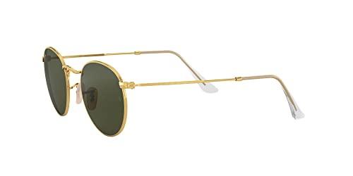 Ray-Ban Unisex Sonnenbrille Rb 3447, (Gestell: Gold, Gläser: Grün Klassisch 001), Medium (Herstellergröße: 47) - 2
