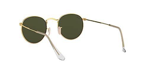 Ray-Ban Unisex Sonnenbrille Rb 3447, (Gestell: Gold, Gläser: Grün Klassisch 001), Medium (Herstellergröße: 47) - 6