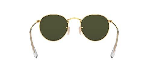 Ray-Ban Unisex Sonnenbrille Rb 3447, (Gestell: Gold, Gläser: Grün Klassisch 001), Medium (Herstellergröße: 47) - 7