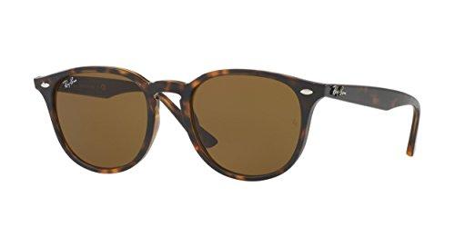 RAYBAN Unisex – Erwachsene Sonnenbrille RB4259, Mehrfarbig (Gestell: Havana,Gläser: braun 710/73), Medium (Herstellergröße: 51)