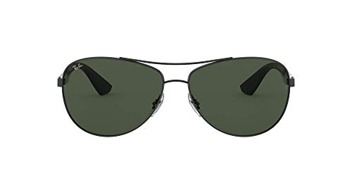Ray-Ban Unisex Sonnenbrille 0rb3526, (Gestell: schwarz Glas: grau grün 006/71), Large (Herstellergröße: 63)