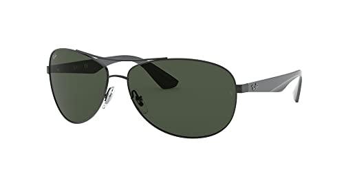 Ray-Ban Unisex Sonnenbrille 0rb3526, (Gestell: schwarz Glas: grau grün 006/71), Large (Herstellergröße: 63) - 2