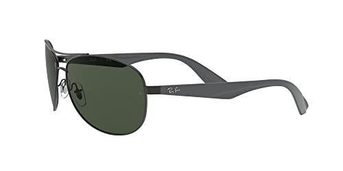 Ray-Ban Unisex Sonnenbrille 0rb3526, (Gestell: schwarz Glas: grau grün 006/71), Large (Herstellergröße: 63) - 3