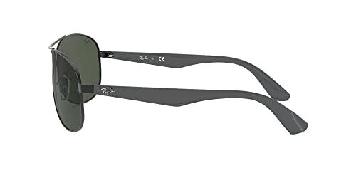 Ray-Ban Unisex Sonnenbrille 0rb3526, (Gestell: schwarz Glas: grau grün 006/71), Large (Herstellergröße: 63) - 6