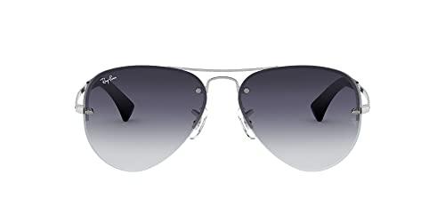 Ray-Ban Unisex Sonnenbrille Rb 3449, (Gestell: Silber, Gläser: Grau Verlauf 003/8G), Large (Herstellergröße: 59)