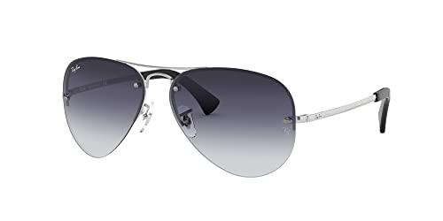 Ray-Ban Unisex Sonnenbrille Rb 3449, (Gestell: Silber, Gläser: Grau Verlauf 003/8G), Large (Herstellergröße: 59) - 2