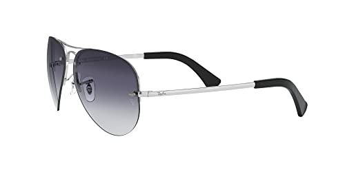 Ray-Ban Unisex Sonnenbrille Rb 3449, (Gestell: Silber, Gläser: Grau Verlauf 003/8G), Large (Herstellergröße: 59) - 3