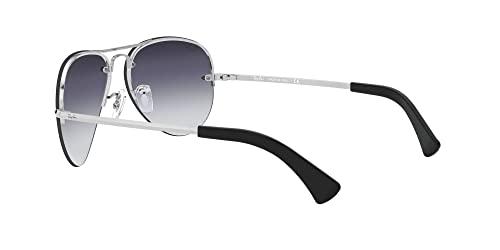 Ray-Ban Unisex Sonnenbrille Rb 3449, (Gestell: Silber, Gläser: Grau Verlauf 003/8G), Large (Herstellergröße: 59) - 5