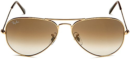 RAY BAN AVIATOR Sonnenbrille/Sunglasses - Gelb/Braun RB3025 001/51 (58mm) - 2