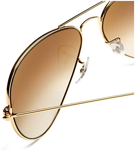 RAY BAN AVIATOR Sonnenbrille/Sunglasses - Gelb/Braun RB3025 001/51 (58mm) - 3