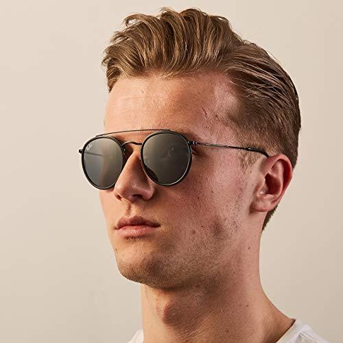 Ray-Ban Unisex-Erwachsene Sonnenbrille Rb 3647n, Black/Grey, 51 - 3