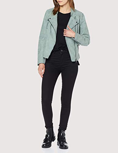 ONLY Damen Jacke Leder-Look grün - 2