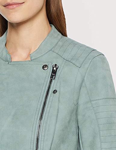 ONLY Damen Jacke Leder-Look grün - 3