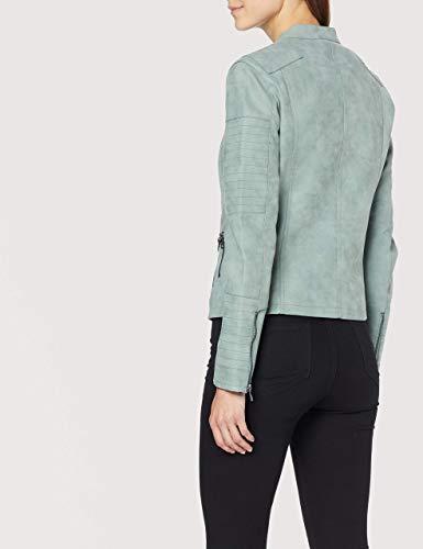 ONLY Damen Jacke Leder-Look grün - 4
